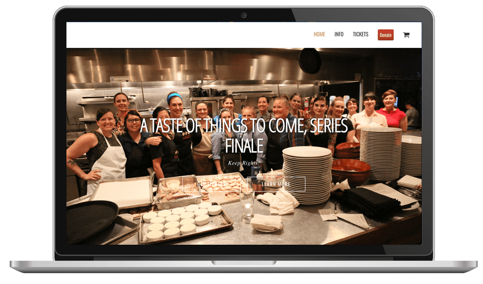 Cause Events-A Taste of Things to Come Branded Website