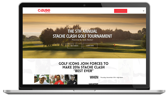 Cause Events-Movember Stache Clash Branded Website